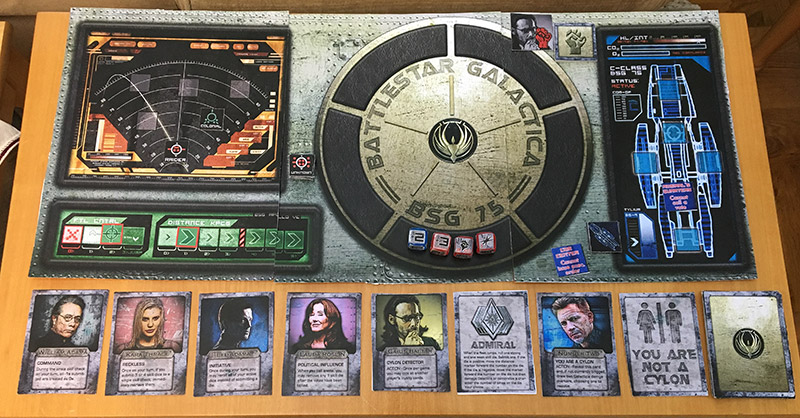 Image shows the game components of BSG Express