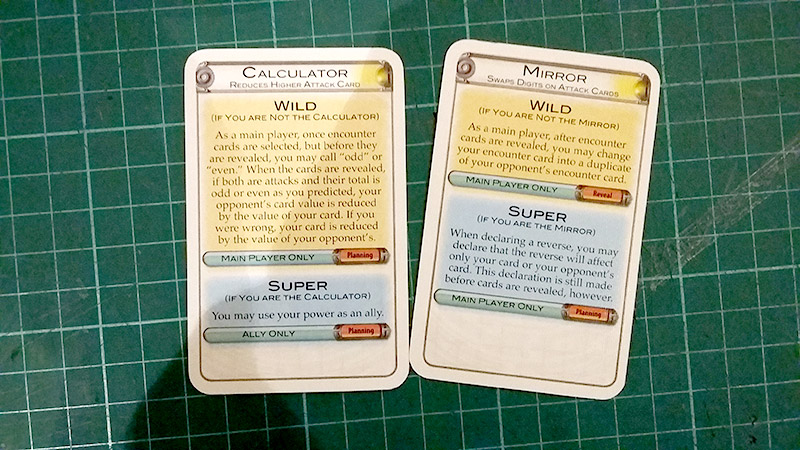 Image showing flare cards. Flares in particular will be tough for the vision impaired player to read even with magnification
