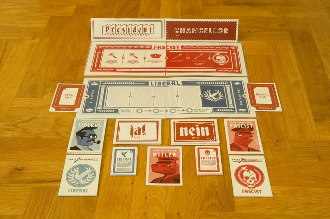 Image showing the colored print and play version of Secret Hitler